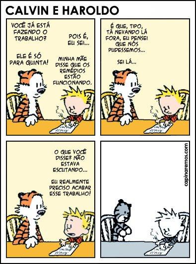 Calvin - Um recado para os adultos